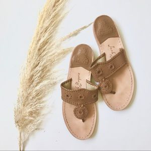 Brown Leather Jack Rogers Sandals
